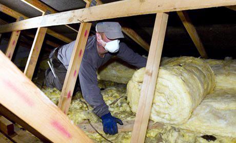 Loft Insulation Installation in progress